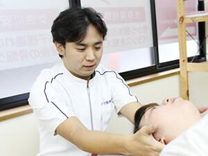 首の痛みに対する施術方法